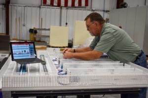 Panel Technician Wiring Panel using Smart Wire